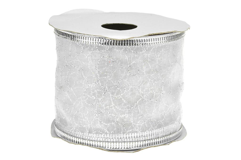 Dárková stuha (6x270cm) - Stříbrná