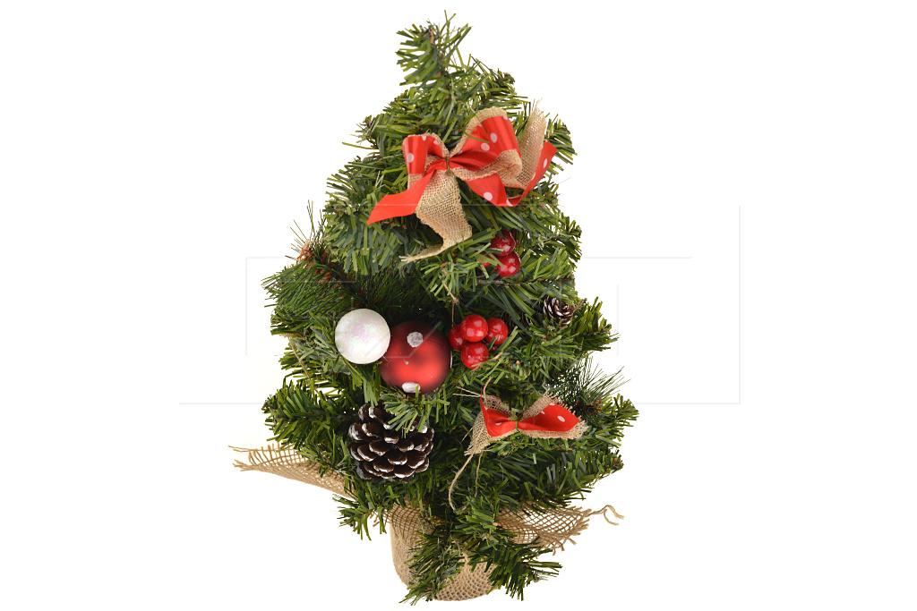 Vánoční stromeček v květináčku (40cm) - S ozdobama