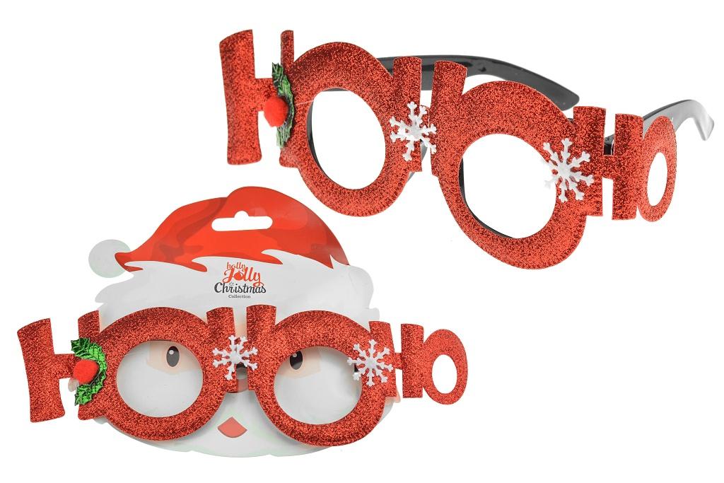 HoHoHo - Vánoční dekorativní brýle, mix motivů, 1ks