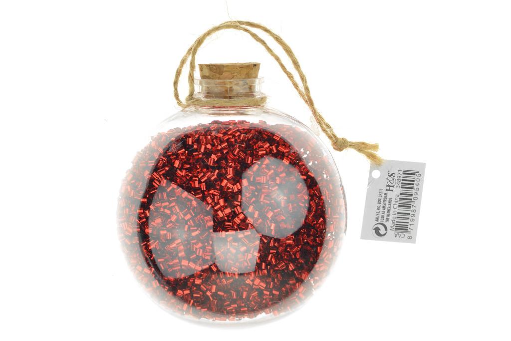 Koule s hoblinkami (9cm) - Červená