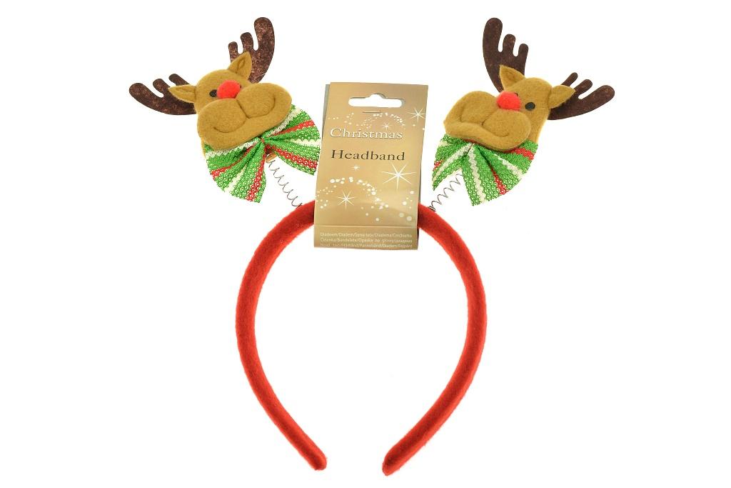 Vánoční čelenka - Sobík