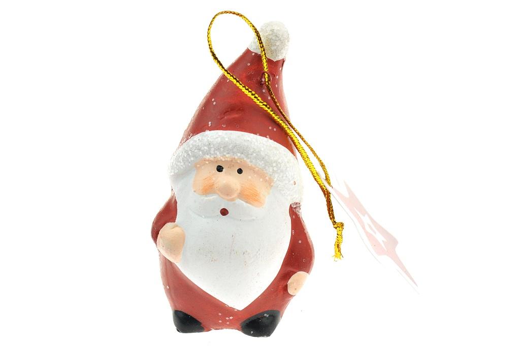 Figurka na stromeček z pálené hlíny - Santa (8cm)
