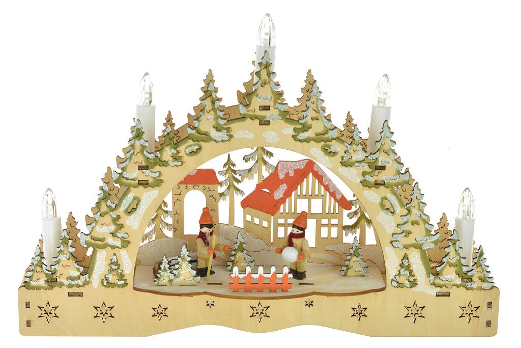 Vánoční svícen - Dva kluci