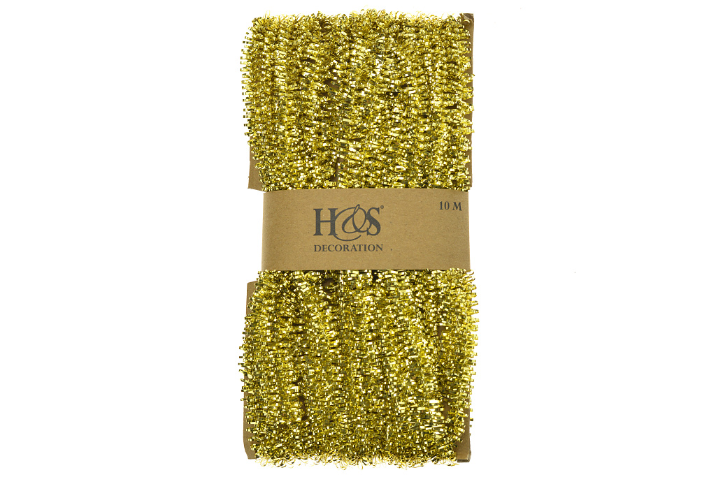 Vánoční řetěz - Drátěnkový, zlatý (10m)