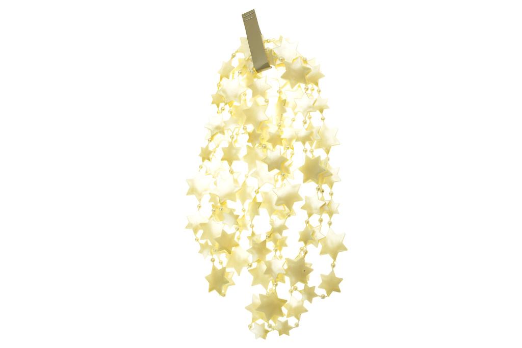 Vánoční řetěz (2.6x270cm) - Perlový