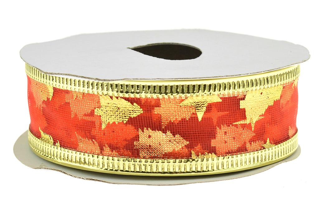 Dárková stuha (2.5x270cm) - Červená