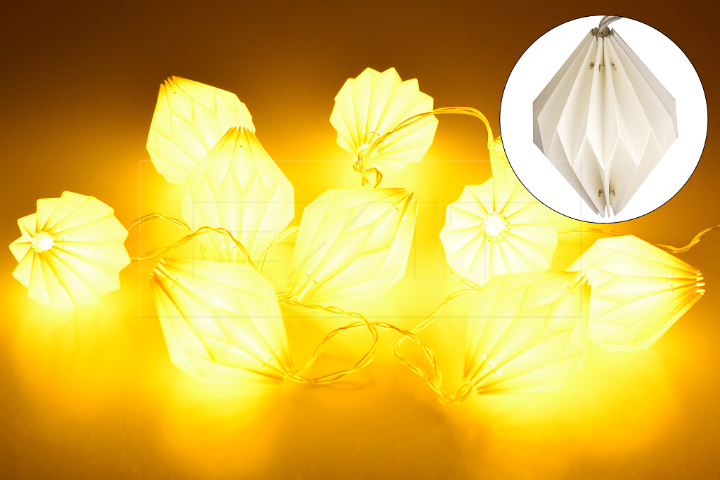 Svítící lampionky HS (160cm) 10LED - Teplá bílá