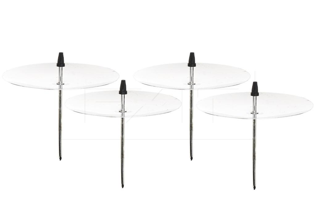 Bodce na svíčku FLORA (7x6cm) Set 4ks - Stříbrné
