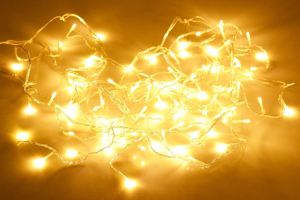 Krápníková LED světýlka do exteriéru a interiéru (3m) 90 diod - Teplá bílá
