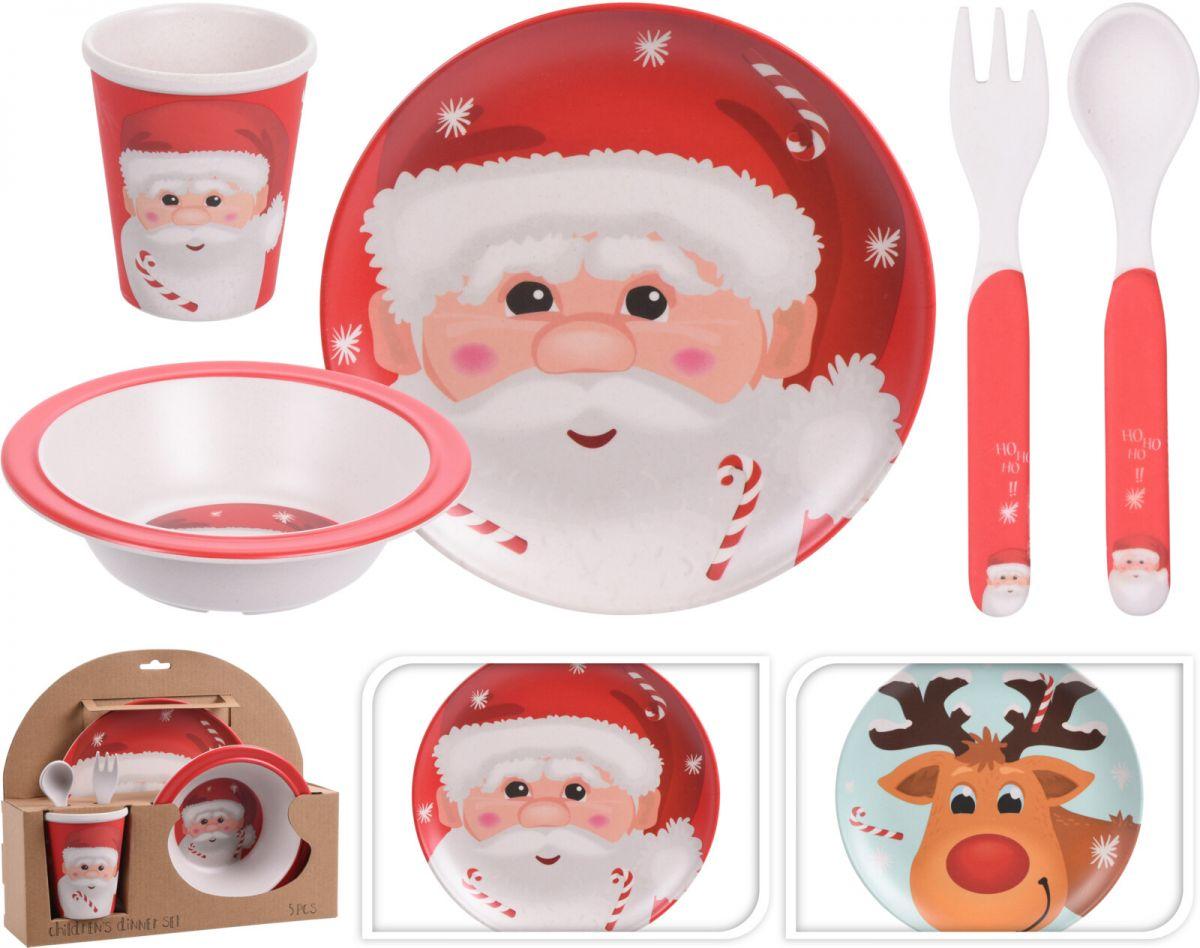 Dětská sada nádobí 5ks - Santa