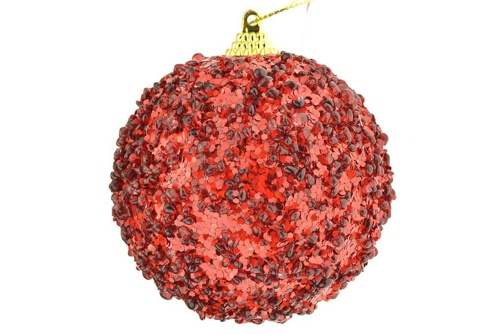 Koulička s kapkami (8cm) - Červená
