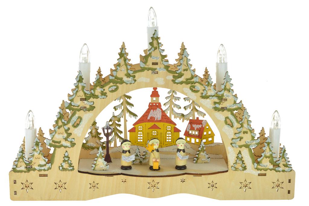 Vánoční svícen - Tři figurky