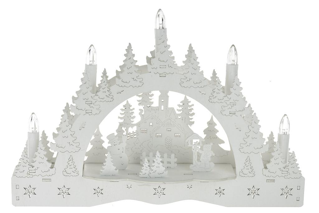 Vánoční svícen - Sněhulák a dítě
