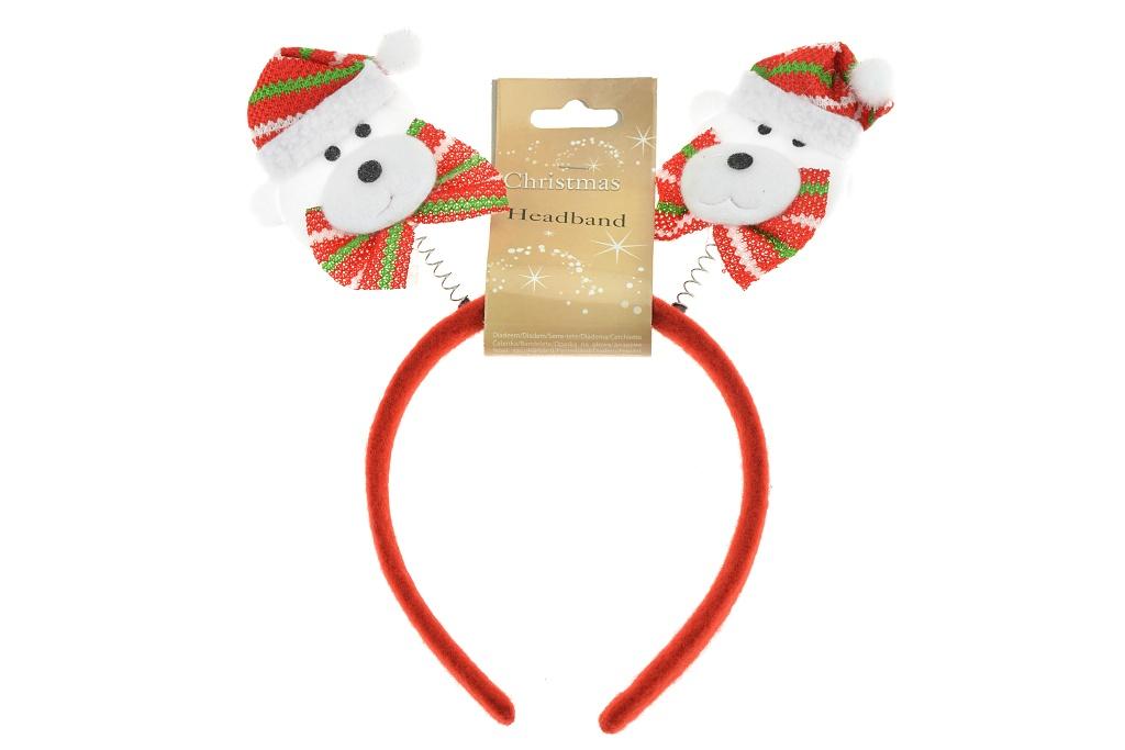 Vánoční čelenka - Lední medvěd
