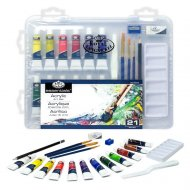 Sada akrylových barev v kufříku - 21 dílů