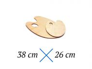 Dřevěná paleta - 38 x 26 cm