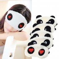Improvizovaná rouška na obličej pro děti - Maska na spaní Panda