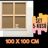 Malířské plátno na rámu 100 x 100 cm 320g/m2  5 ks