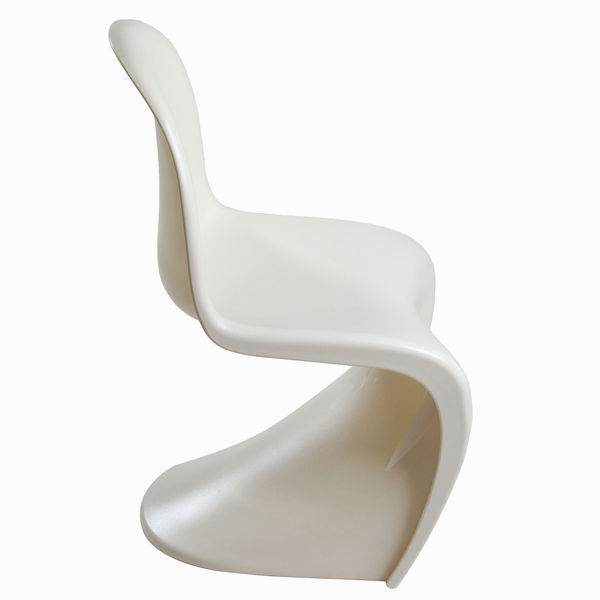 White curve design chair by Craftenwood
