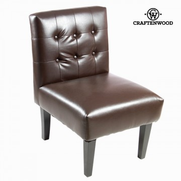 Brown imitation leather armchair - Relax Retro Kolekce by Craftenwood