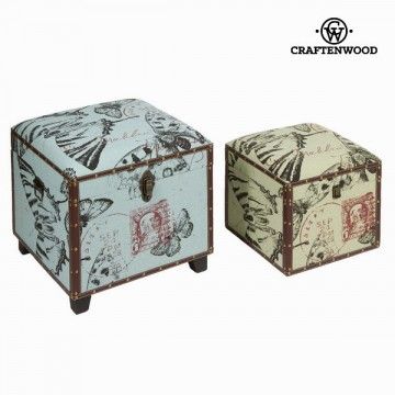 Set of 2 storage chests - Printed Kolekce by Craftenwood
