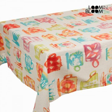 Barvaed cups tablecloth  by Loom In Bloom
