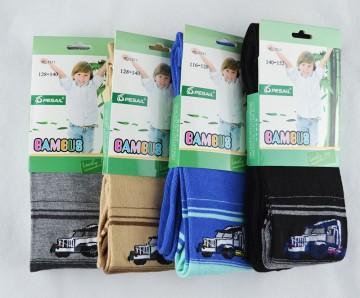 Dětské punčocháče  - Bambusové - 3 páry  mix barev vel.128-140