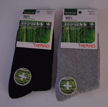 Termo Bambusové ponožky - 2 páry mix barev vel. 43-46