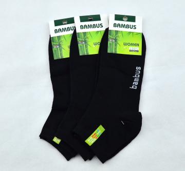Bambusové ponožky černé kotníkové - 1 pár vel. 35-38
