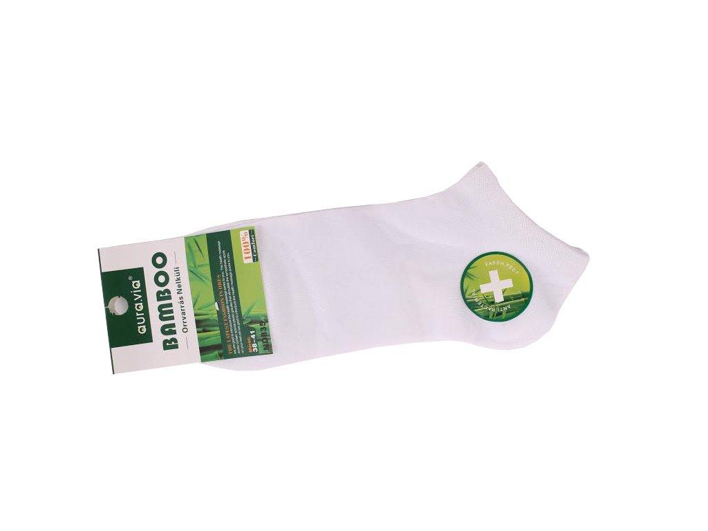 Bílé kotníkové - Bambusové ponožky - 1 pár vel. 35-38