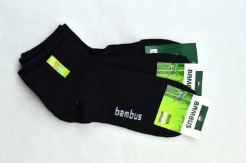 Bambusové ponožky  černé kotníkové 39-42