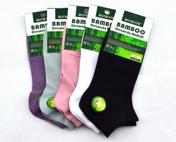 Bambusové ponožky - 5 párů mix barev kotníkové 38-41