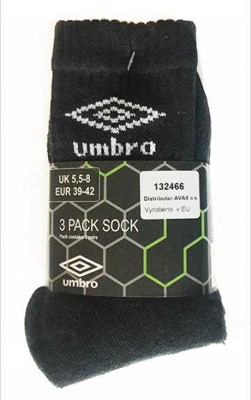 Termo ponožky UMBRO -  3ks vel. 43-46