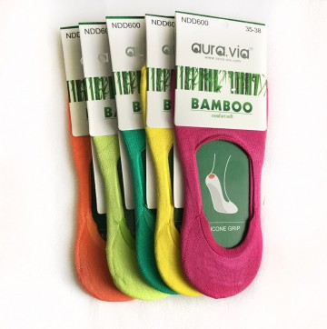 Dámské ťapky - Bambusové mix barev  - 5 páry vel. 35 - 38