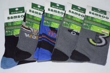 Bambusové ponožky chlapecké vel. 32 - 35 mix 5 párů
