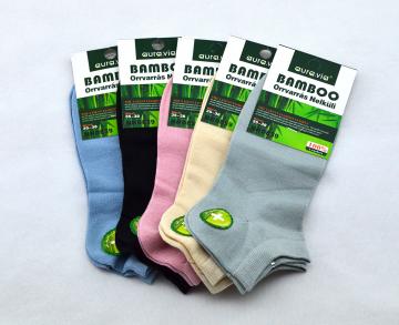 Bambusové ponožky - 5 párů mix barev  kotníkové 35-38