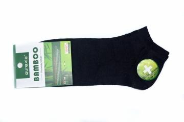 Černé kotníkové - Bambusové ponožky - 1 pár vel. 43 - 46