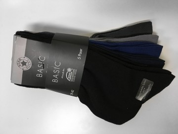 100% Bavlněné  ponožky vel. 43 - 46 mix barev 5 párů