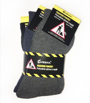 Bavlněné pracovní ponožky 3 páry vel. 39-42