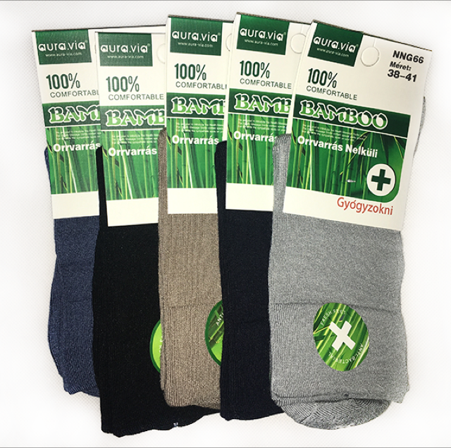 Zdravotní Bambusové ponožky dámské  vel.38-41 bal.mix barev 5ks