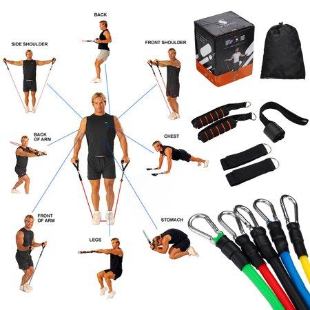 Posilňovacia guma na cvičenie (11 dielna sada) Bez ohľadu na to, či ste v cvičení začiatočník, alebo expert, ak hľadáte niečo na zefektívnenie svojho tréningu, táto všestranná sada vám umožní získať rýchlejšie a efektívnejšie výsledky!Každé cvičenie vyžaduje inú váhu, záleží to na tom, aké svaly práve chcete precvičiť.
