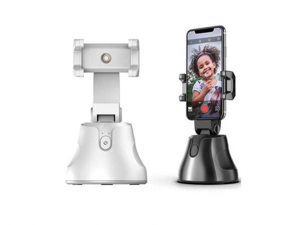 360° otočný držiak telefónu Držiak s automatickým otáčaním o 360 ° je prenosné, ľahko použiteľné zariadenie, ktoré prináša nový spôsob zhotovovania SELF fotografií a videa oproti klasickým selfie tyčiam.