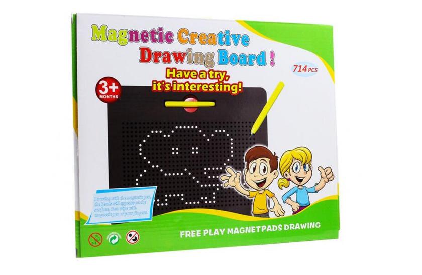 Magnetická kresliaca tabuľka Magnetpad 714 guličiek Magnetická tabuľka je skvelým pomocníkom pri kreslení, ktoré nemá hranice!