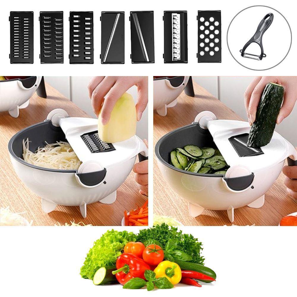 Krájač zeleniny s cedidlom Krájajte zeleninu ľahko a rýchlo s pomocou krájača na zeleninu s cedidlom.