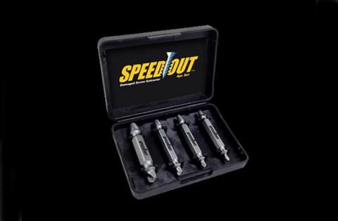 Speed Out - vytahovač stržených šroubů a vrutů - sada 4 velikostí