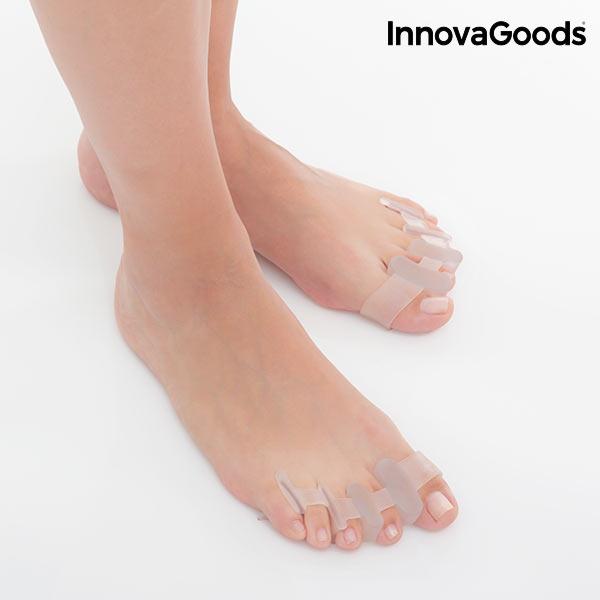 Relaxačné Separátory Prstov InnovaGoods (2 kusy) Potrebujete uľaviť od bolesti chodidiel a upraviť vzájomnú pozíciu prstov?