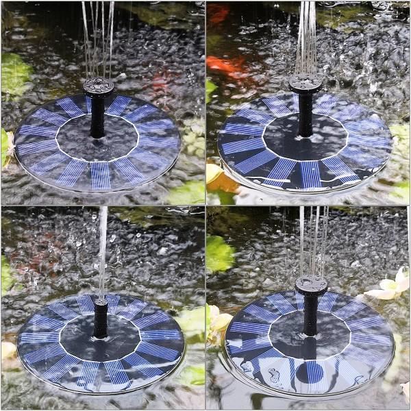 Záhradná solárna fontána Krásna dekorácia na vašuzáhradu!