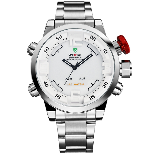Pánské hodinky Weide Hard - Stříbrno-bílé  a28f3bd5139