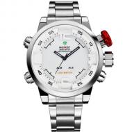 Pánské hodinky Weide Hard - Stříbrno-bílé