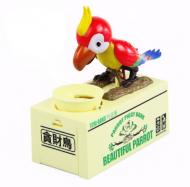 Dětská pokladnička papoušek - Červená + poštovné jen za 1 Kč